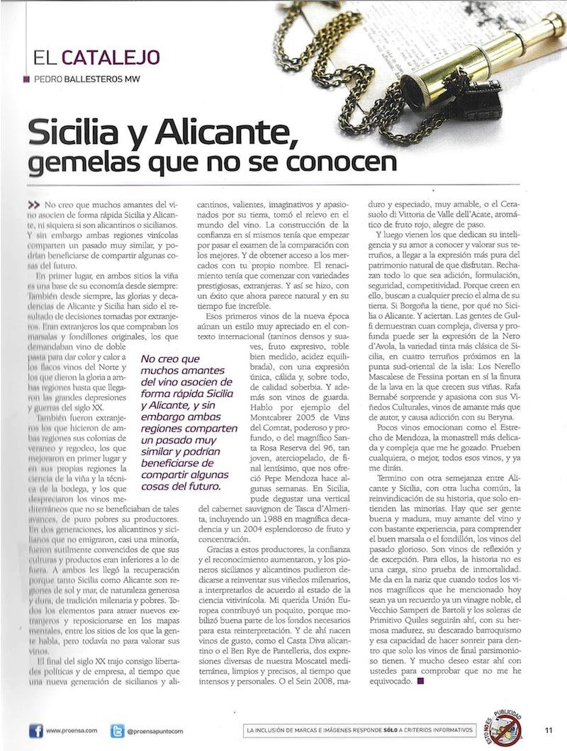 Articulo Pedro Ballesteros en Planeta Vino julio 2012