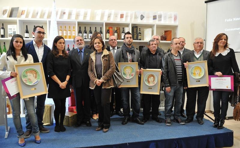Premios Winecanting 2012 - Consejo Regulador DOP Alicante - Foto galardonados