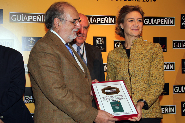 Entrega del premio del público a la DO más valorada de España